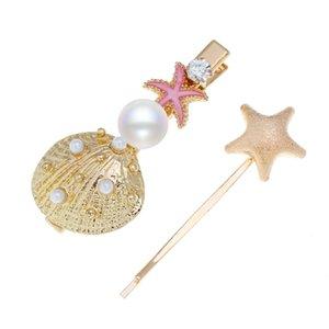 Gioielli vintage Shell Conch Starfish Headban Forcine Charming delle ragazze delle donne Pearl Wedding Barrettes copricapo dei capelli Accessori