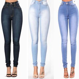 Fuerza elástica Jeans delgado del lápiz pantalones pantalones largos ropa de moda popular del diseño atractivo de las mujeres prendas de vestir de alta calidad 34mya H1
