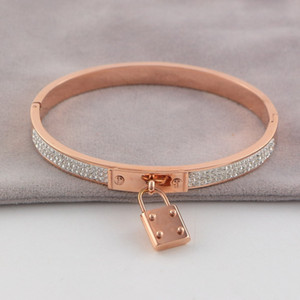 Braccialetti classici della serratura di marca di vendita calda dell'acciaio inossidabile di vendita calda dei braccialetti Braccialetto di alta qualità di amore H per le donne