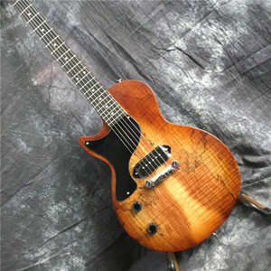 Padrão canhoto LP guitarra elétrica, acabamento de luxo, captador P9, mapa padrão de guitarra, EMS transporte livre