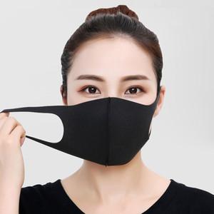 Maschera per adulti traspirante fronte della spugna riutilizzabile Anti Inquinamento Visiera antivento Maschera bocca nero della copertura Kpop Bocca
