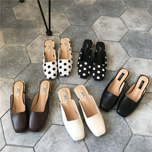 Chaussures Femme Sexy2019 Tuoxie Xia Low Avec Chausson Cool Femme Square Baotou Ban Tuo