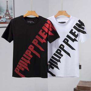 İlkbahar ve yaz yüksek kaliteli yeni erkek tişört pamuk baskı kısa yuvarlak boyun PoloT-shirt boyutu M-L-XL-XXL-XXXL gömlek siyah beyaz # 10 manşon