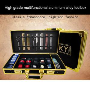 de alta calidad caja de almacenamiento impulso eléctrico portátil cizalla aleación de aluminio especial de bloqueo código de la herramienta de peluquería caja de peluquería