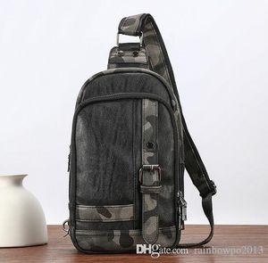 borsa in pelle di moda soft pack petto in pelle all'ingrosso tendenza camuffamento del sacchetto di modo di marca di collocazione camuffamento satchel metrosexual uomo