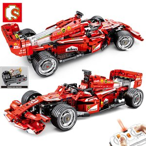 Sembo Technic F1 RC Racing Car Power Motor Building Blocks Super Sports Racer Remote mattoni veicolo di controllo Giocattolo dei bambini regalo CX200613