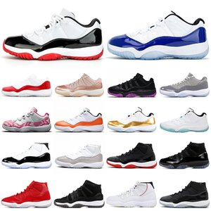 nike air jordan retro 11 jumpman 11s concord bred chaussures de basket-ball Concord Bred femmes formateurs hommes Sports Outdoor Sneakers