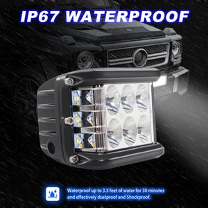 45W three-sided flashing LED off-road work light spotlight floodlights driving lights Refitted Car daytime running lights