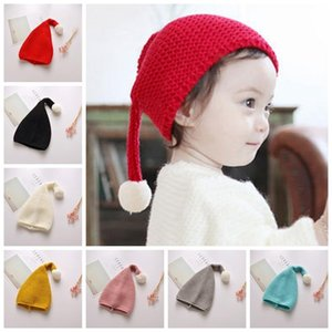 Kids Thicken Warm Winter Hat Boys Girls Baby Soft Stretch Cable Knitted Hat Pom Poms Beanies Hats Children Wool Skullies Caps DBC DH2606