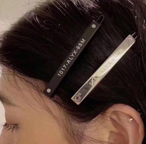 1017 ALYX STUDIO LOGO metal printed hairpin fashion hair accessories do not fade Headdress hairpin