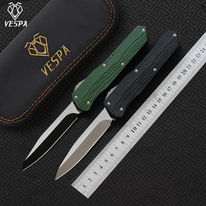 VESPA Version Messerklinge: D2 Griff: 7075Aluminum + TC4, Camping Überleben im Freien EDC Jagd taktischen Werkzeug Abendessen Küchenmesser