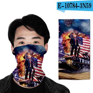 3D Trump 2020 Sihirli Turban Erkekler Kadınlar Fonksiyonlu Açık Buğulanmaz Karşıtı Kirlilik Bisiklet Boyun Eşarp Headban bandanas LJJA4013 Maske