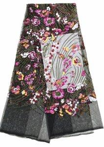 Tecido agradável olhando bordado tulle malha lace bzl-8.0505 com boa qualidade para vestido de festa
