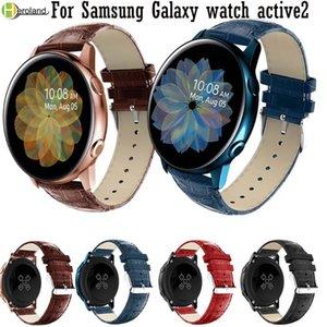 cuero suave de 20 mm reloj del deporte de la banda para Samsung Galaxy active2 reloj 40mm correa de los 44MM inteligente pulseras para Amazfit GTR 42mm