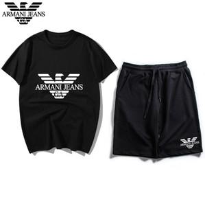 남성 디자이너 운동복 스포츠 남성 조깅 정장 짧은 소매 T 셔츠와 반바지 봄 여름 캐주얼 남여 브랜드 스포츠웨어 세트
