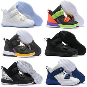 2019 Новое Прибытие Lebron Soldier 13 XIII Низкая мужская Баскетбольная Обувь для Высокого качества Черный Красный Белый Ice Blue Soldiers 13 s Спортивные Кеды