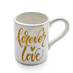 Forever In Love Ceramic Coffee Cup Mug with Rainbow Color Novelty Gift Present