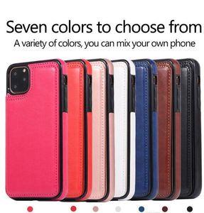 Чехол для телефона Wallet чехол с карты держатель PU кожаный Kickstand карты Слоты крышки для iPhone 11 XS MAX XR 8 Samsung Note10 PLUS