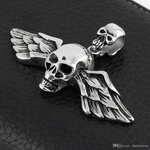 Fashion Silver Pendant Jewlery 316L Stainless Steel Mens Chain Skull Pendant Necklace P67