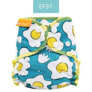Happy Flute Organic Cotton Newborn pannolini piccolo AIO pannolino del panno, impermeabile PUL Fit 3-6kg bambino