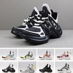 2020 de haute qualité Ss18 Rare Archlight Chaussures Mode Paris Luxe Designer Souliers simple d'homme femmes en cuir véritable vieux papa Formateurs
