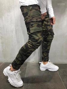 Camuflaje lápiz de los pantalones de los pantalones del otoño del resorte del Mens del diseñador de pantalones del basculador