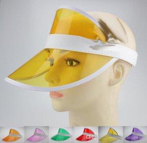 Neon Rave güneş gölge Retro parti kap plastik siperliği güneş şapkası eleştiriler festivali fantezi elbise poker saç bandı