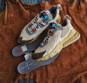 New Travis Scott x Air React 270s Cactus Trails ENG Light Cream Mens Running Shoes Sports Sneakers Size 36-45 Maxes