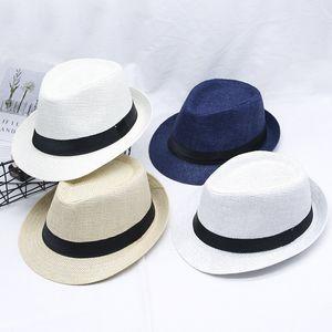 Hat Mens koreanische Version des Sommer Sonnenhut Reise Meer Rolled Jugend Hut Außen Beach Holiday Jazz Straw
