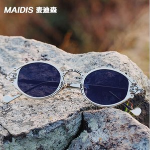 European and American Street Photo new glasses retro Steampunk Sunglasses Gothic oval frame carved Sunglasses