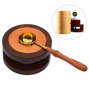 Wax Seal грелка Печь Печь Горшок с тающим Ложка Kit бусинами Палочки Инструмент для заделки Stamp Подсвечники