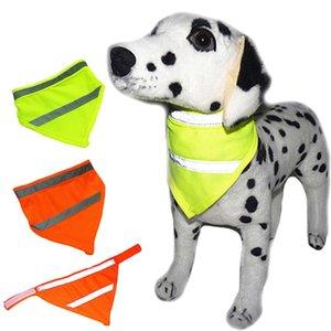 Perro alta seguridad Visivility Bufanda mascotas reflejo de neón del animal doméstico del pañuelo de Ajustable gato Bufanda Pañuelo mascotas BBA7