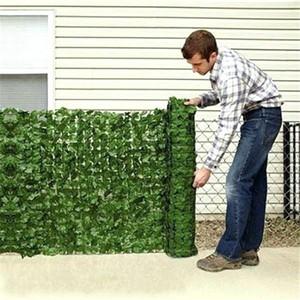0,5 * Hedge 1M Artificial hojas de imitación Lvy Hoja pantalla valla de privacidad para cerca del jardín del patio trasero de malla verde artificial Balcón