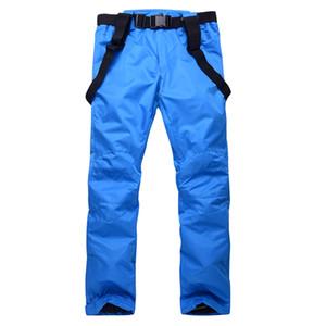 Recién pantalones de esquí de nieve a prueba de viento Calentamiento Pantalones impermeables para las compras del invierno de las mujeres de los hombres al aire libre Línea BF88