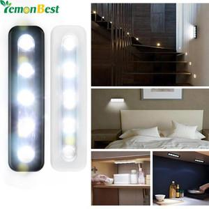 LemonBest Mini Wireless Wall Light Closet lampe 5 LED Night Light batterie Éclairage pour les moins Armoires de cuisine