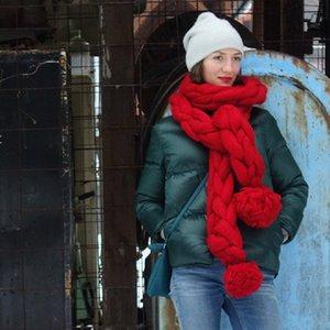 CANIS neuester Entwurf-heiße Art und Weise Frauen Männer Damen Chunky Yarn Snood Gugel Handgestrickte Schal handgemachte Schal