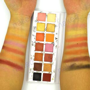 흰색 골판지 낮은 moq 개인 레이블 팔레트 사용자 정의 색상 안료 느슨한 안료 도매 구운 eyeshadow 팔레트 개인 레이블