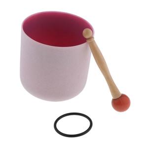 Crystal Singing Bowl C لاحظ القلب شقرا 7 بوصة (O- الدائري مطرقة المطاط المدرجة)، وساعد الناس التأمل، 5 ألوان للاختيار