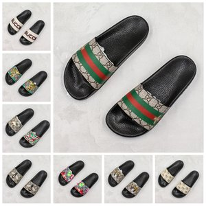 [With Box]Ace Sneaker Bee Tiger Stripes Slider Pool flip flops Mens Designer Slippers For Women Fashion Sandals Scuffs Luxury Slides loafers