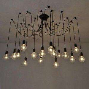 Nordic chandelier rural industrial wind energy saving tienu sanhua retro living room bar coffee restaurant lights