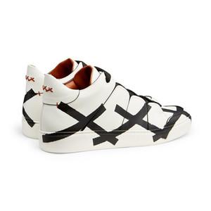 2020 nuevos zapatos de moda superior de la manera original de la marca italiana EZ zapatos de lona de la impresión de la manera del diseñador de los hombres casuales
