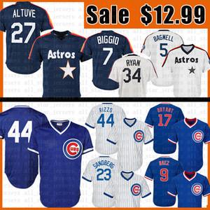 27 hommes Jose Altuve 44 Anthony Rizzo Baseball Jersey 17 Kris Bryant 23 Ryne Sandberg 34 Nolan Ryan 5 Jeff Bagwell 7 Craig Biggio Maillots