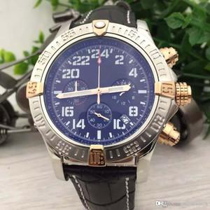 Super Multipurpose Mens Armbanduhr Militär-Uhr-Quarz-Chronograph-Mann-Uhr Schwarzes Zifferblatt mit einzigartigem Edelstahl Gehäusen