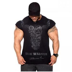 캐주얼 남성 조깅 스포츠 벌킹 T 셔츠 남자 체육관 피트니스 보디 빌딩 반팔 T 셔츠 남성 운동 교육 티 의류 탑