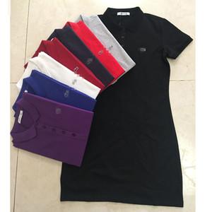 Дизайнер женщины Поло платье мода лето бренд женские платья женщины роскошные рубашки поло платье с коротким рукавом повседневные платья 2020756K