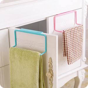 Towel Rack Hanging Holder Organizer Bathroom Kitchen Cabinet Cupboard Hanger Back Door Hang Racks Drop EEA1382