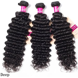 H 9a Brazilian Human Hair Weaves 3 Bundles With 4x4 Lace Closure Straight Body Wave Loose Kinky Hair Wefts Peruvian Wet Hair Extensions