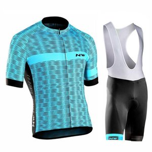 2020 Northwave Nw 2020 Summer Cycling Jersey Short Sleeve Bib Shorts Set Men Mtb Bicycle Clothes Maillot Culotte Clothing Sportswear 120409y