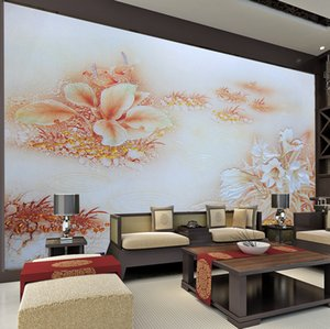 Fresh pink flower TV background Decorative paintings wall mural wedding room personality rose large 3d mural non-woven TV wallpaper