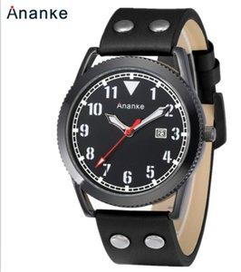 An24 Men's sport watch waterproof leather watchband Japanese movement quartz watch wholesale An24